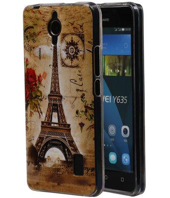 Eiffeltoren TPU Cover Case voor Huawei Y635 Hoesje
