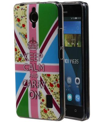 Keizerskroon TPU Cover Case voor Huawei Y635 Hoesje
