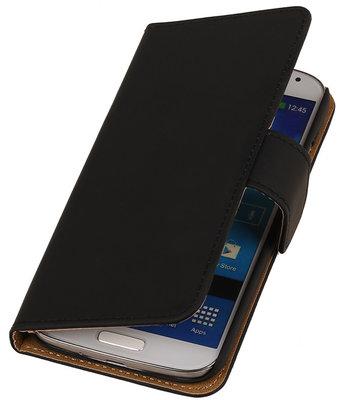 Samsung Galaxy Fresh Effen Booktype Wallet Hoesje Zwart