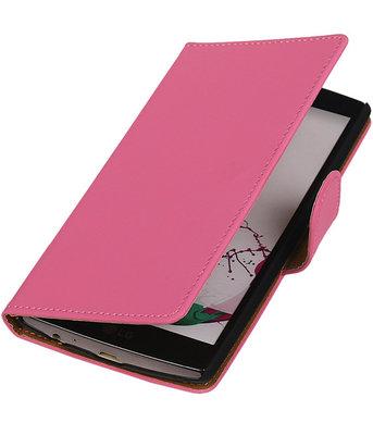 Hoesje voor LG G3 Effen Booktype Wallet Roze