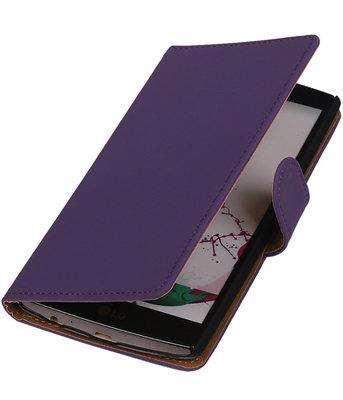 Hoesje voor LG G3 Effen Booktype Wallet Paars