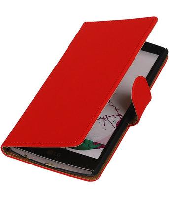 Hoesje voor LG G3 Effen Booktype Wallet Rood