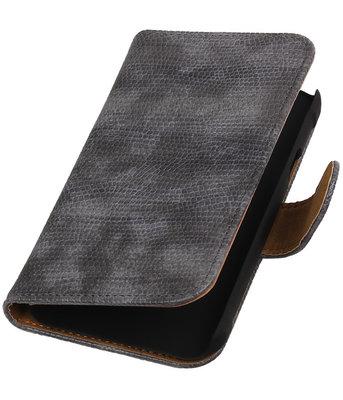Samsung Galaxy Xcover 3 Booktype Wallet Hoesje Mini Slang Grijs