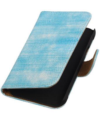 Hoesje voor Samsung Galaxy Xcover 3 Booktype Wallet Mini Slang Blauw