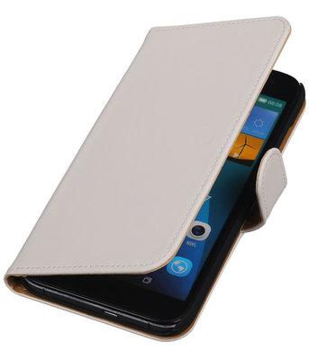 Hoesje voor Huawei Ascend G7 Effen Booktype Wallet Wit