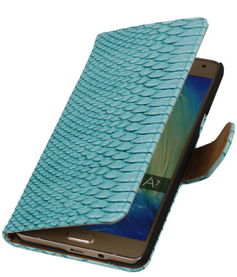 Turquoise Slang Booktype Samsung Galaxy A7 2015 Wallet Cover Hoesje