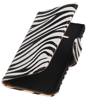 Zebra Booktype Hoesje voor Samsung Galaxy Core Advance i8580 Wallet Cover