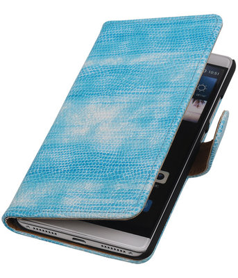 Turquoise Mini Slang Booktype Hoesje voor Huawei Mate S Wallet Cover