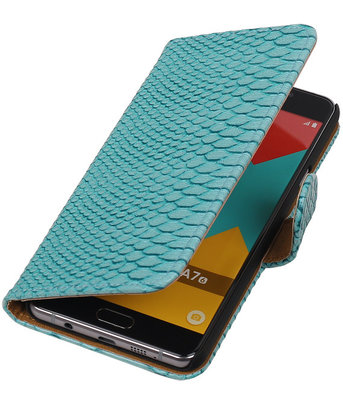 Turquoise Slang Booktype Samsung Galaxy A7 2016 Wallet Cover Hoesje