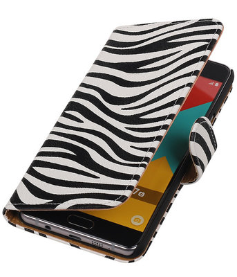 Zebra Booktype Samsung Galaxy A7 2016 Wallet Cover Hoesje