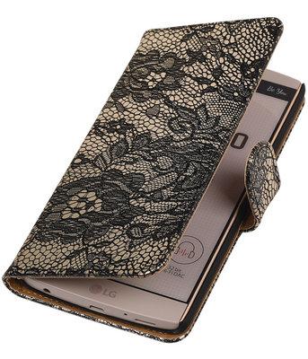 Hoesje voor LG V10 - Lace Zwart Booktype Wallet