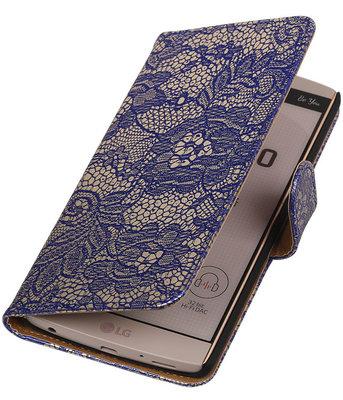 Hoesje voor LG V10 - Lace Blauw Booktype Wallet