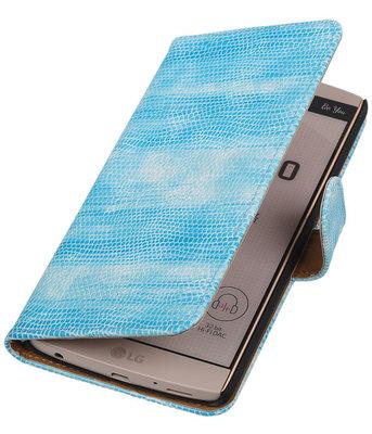 Hoesje voor LG V10 - Mini Slang Turquoise Booktype Wallet