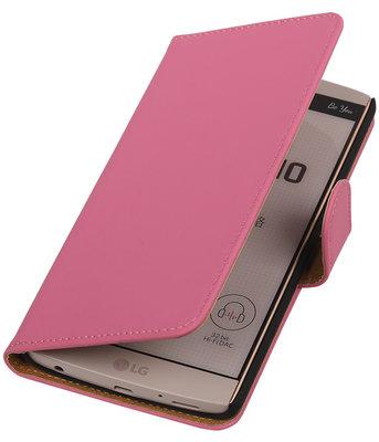 Hoesje voor LG V10 - Effen Roze Booktype Wallet