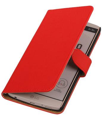 Hoesje voor LG V10 - Effen Rood Booktype Wallet