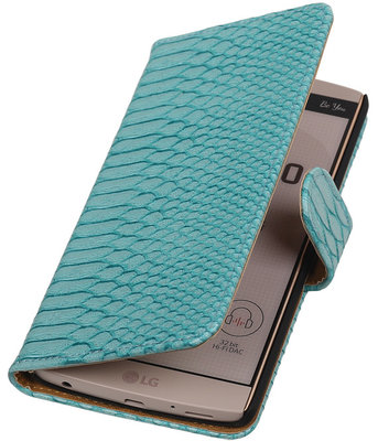 Hoesje voor LG V10 - Slang Turquoise Bookstyle Wallet