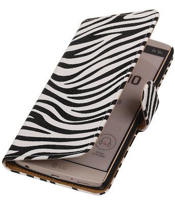 Hoesje voor LG V10 - Zebra Booktype Wallet
