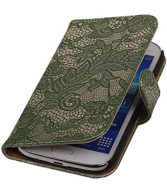 Lace Donker Groen Hoesje voor Samsung Galaxy Grand Neo Book/Wallet Case