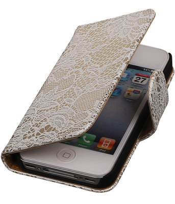 Lace Wit iPhone 4 4s Book/Wallet Case/Cover