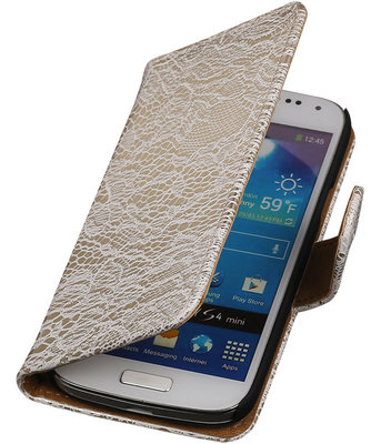 Lace Wit Samsung Galaxy S4 Mini Book/Wallet Case/Cover Hoesje