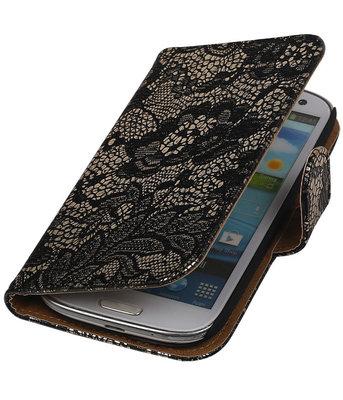 Lace Zwart Samsung Galaxy S3 Book/Wallet Case/Cover Hoesje