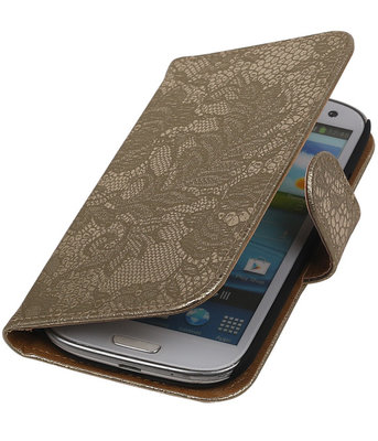 Lace Goud Samsung Galaxy S3 Book/Wallet Case/Cover Hoesje