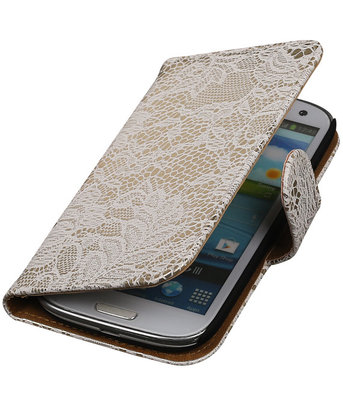 Lace Wit Samsung Galaxy S3 Book/Wallet Case/Cover Hoesje
