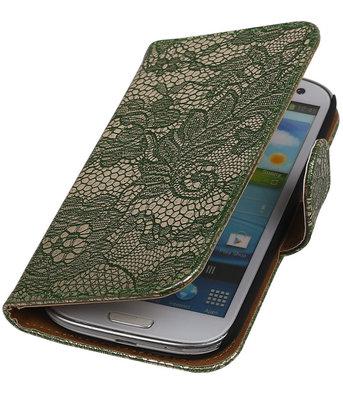 Lace Donker Groen Samsung Galaxy S3 Book/Wallet Case/Cover Hoesje