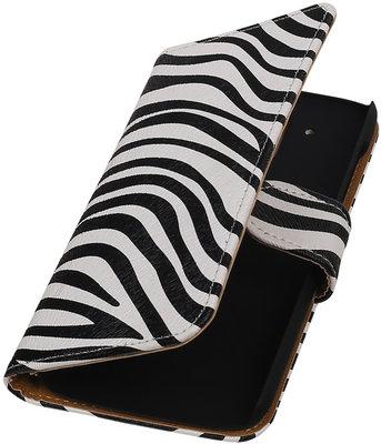 Hoesje voor HTC Desire 526 Booktype Zebra
