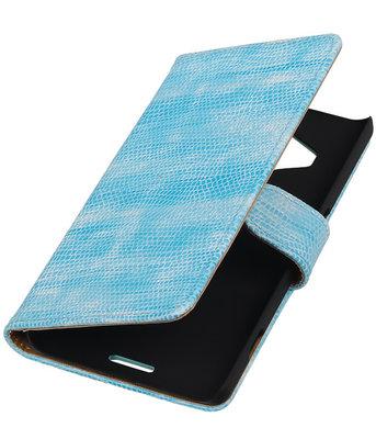 Hoesje voor Microsoft Lumia 950 XL - Booktype Wallet Mini Slang Turquoise