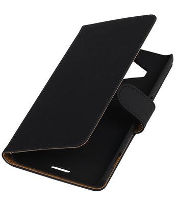 Hoesje voor Microsoft Lumia 950 XL - Effen Booktype Wallet Zwart