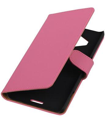 Hoesje voor Microsoft Lumia 950 XL - Effen Booktype Wallet Roze