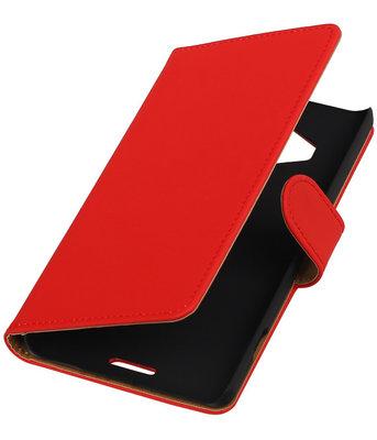Hoesje voor Microsoft Lumia 950 XL - Effen Booktype Wallet Rood