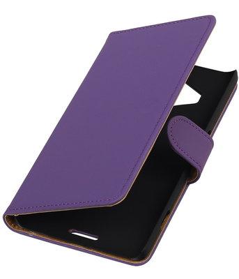 Hoesje voor Microsoft Lumia 950 XL - Effen Booktype Wallet Paars