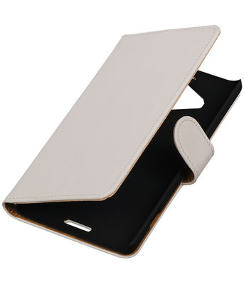 Hoesje voor Microsoft Lumia 950 XL - Effen Booktype Wallet Wit