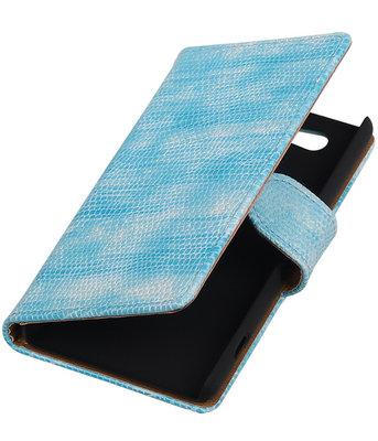 Hoesje voor Sony Xperia Z4 Compact Booktype Wallet Mini Slang Blauw