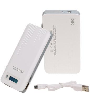 SunPin Powerbank 11000 mAh D110 Oplader met ingebouwd Micro USB