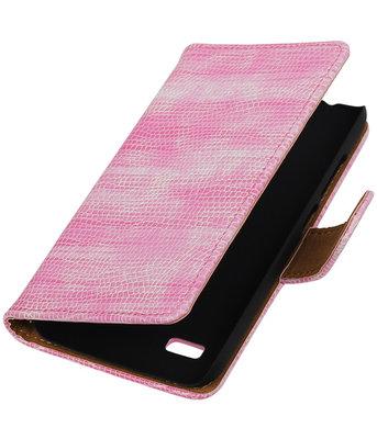 Roze Mini Slang Booktype Hoesje voor Huawei Y560 / Y5 Wallet Cover