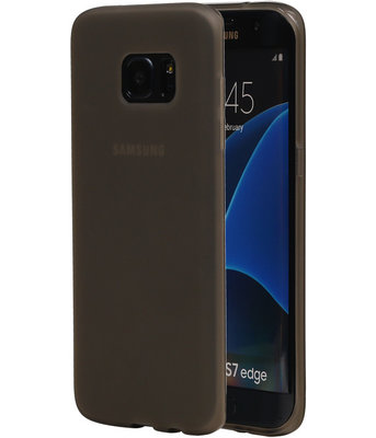 Hoesje voor Samsung Galaxy S7 Edge TPU Back Cover Transparant Grijs