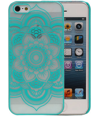 Apple iPhone 5/5S - Roma Hardcase Hoesje Turquoise