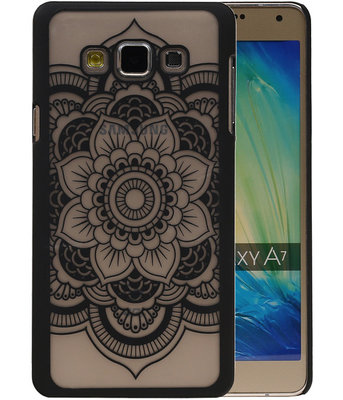 Hoesje voor Samsung Galaxy A7 2015 - Roma Hardcase Zwart