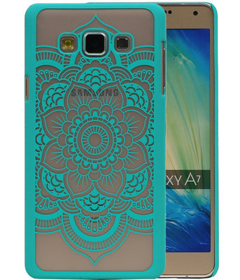 Hoesje voor Samsung Galaxy A7 2015 - Roma Hardcase Turquoise