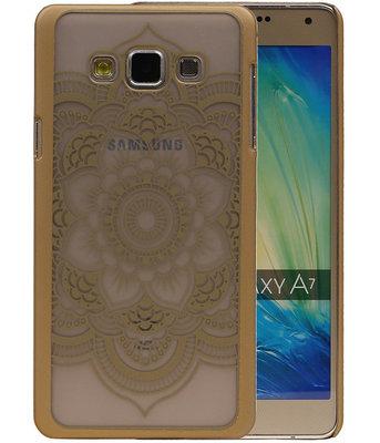 Hoesje voor Samsung Galaxy A7 2015 - Roma Hardcase Goud
