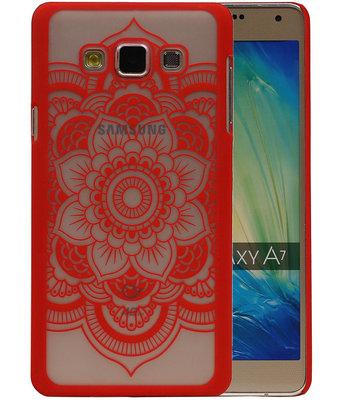 Samsung Galaxy A7 2015 - Roma Hardcase Hoesje Rood