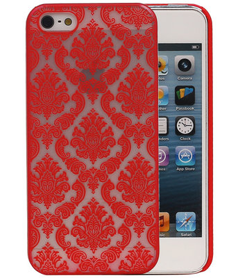 Apple iPhone 5/5S - Brocant Hardcase Hoesje Rood