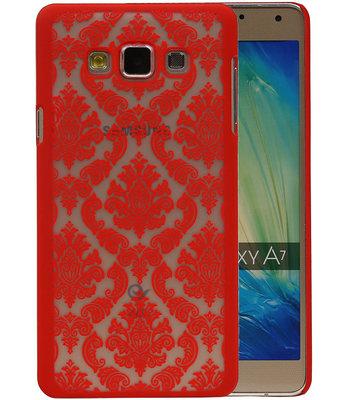 Hoesje voor Samsung Galaxy A7 2015 - Brocant Hardcase Rood