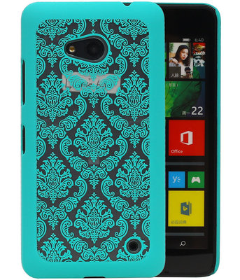 Hoesje voor Microsoft Lumia 640 - Brocant Hardcase Turquoise