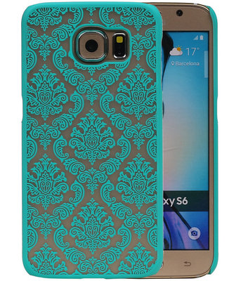 Samsung Galaxy S6 - Brocant Hardcase Hoesje Turquoise