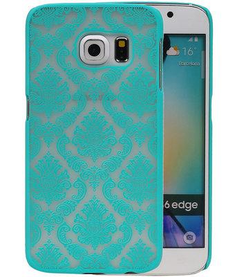 Hoesje voor Samsung Galaxy S6 Edge - Brocant Hardcase Turquoise