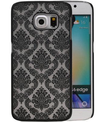 Hoesje voor Samsung Galaxy S6 Edge - Brocant Hardcase Zwart
